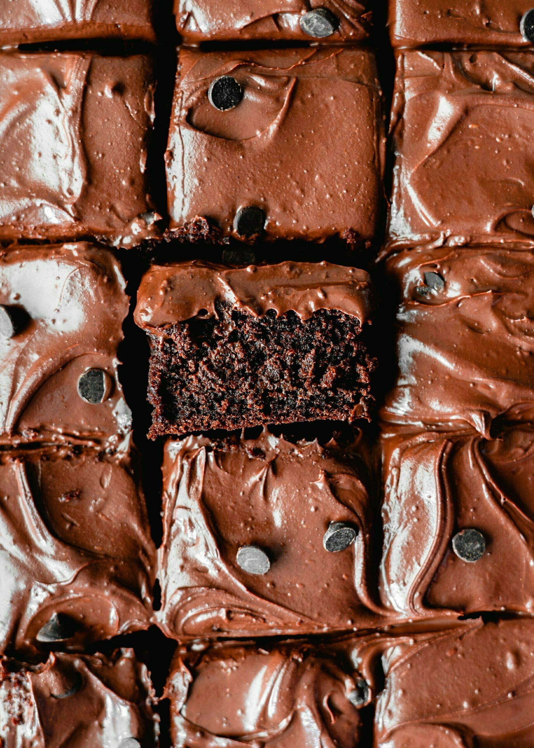 Puhasta veganska čokoladna torta s čokoladno ganache kremo