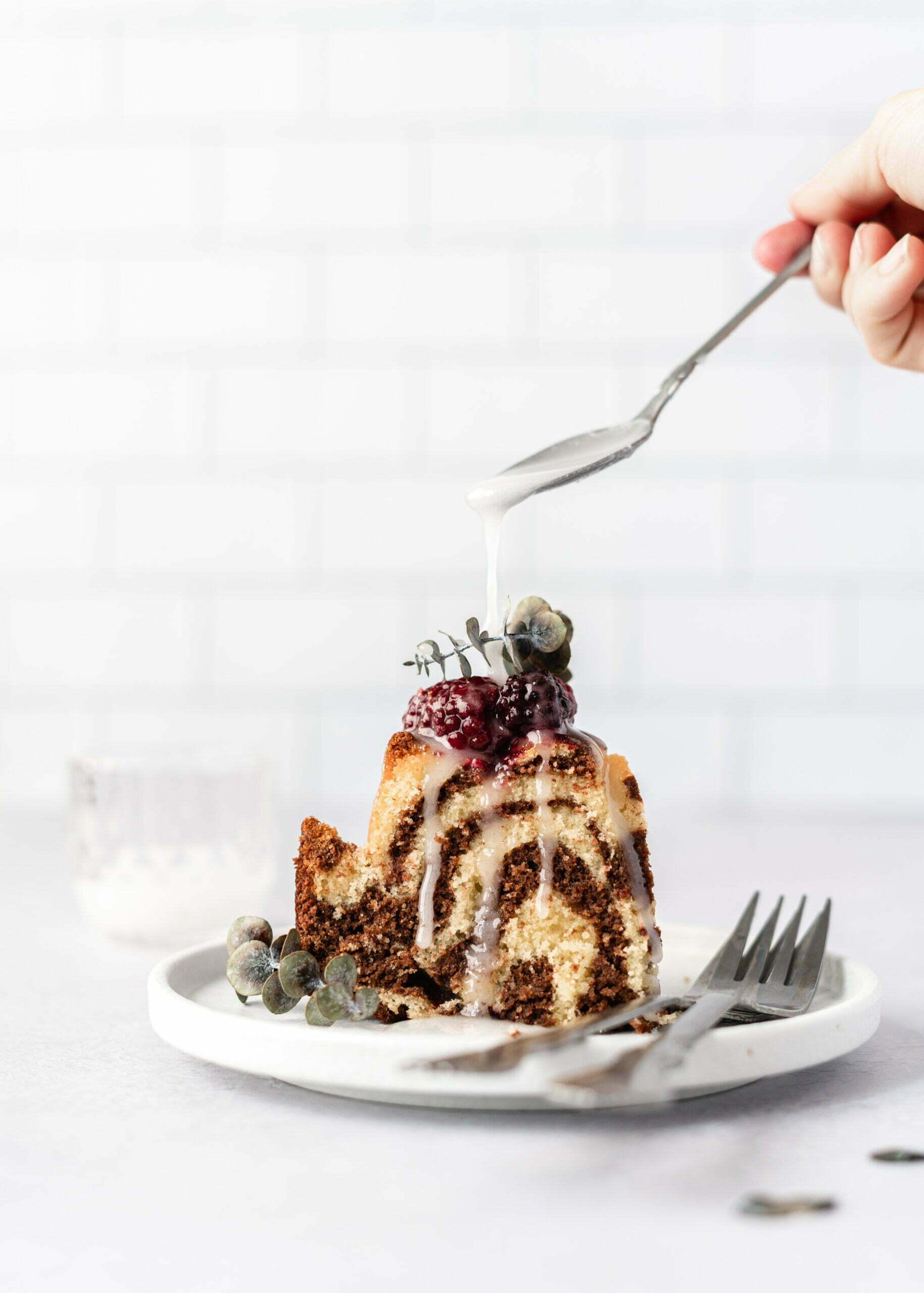 Čokoladno vaniljev Zebra kolač