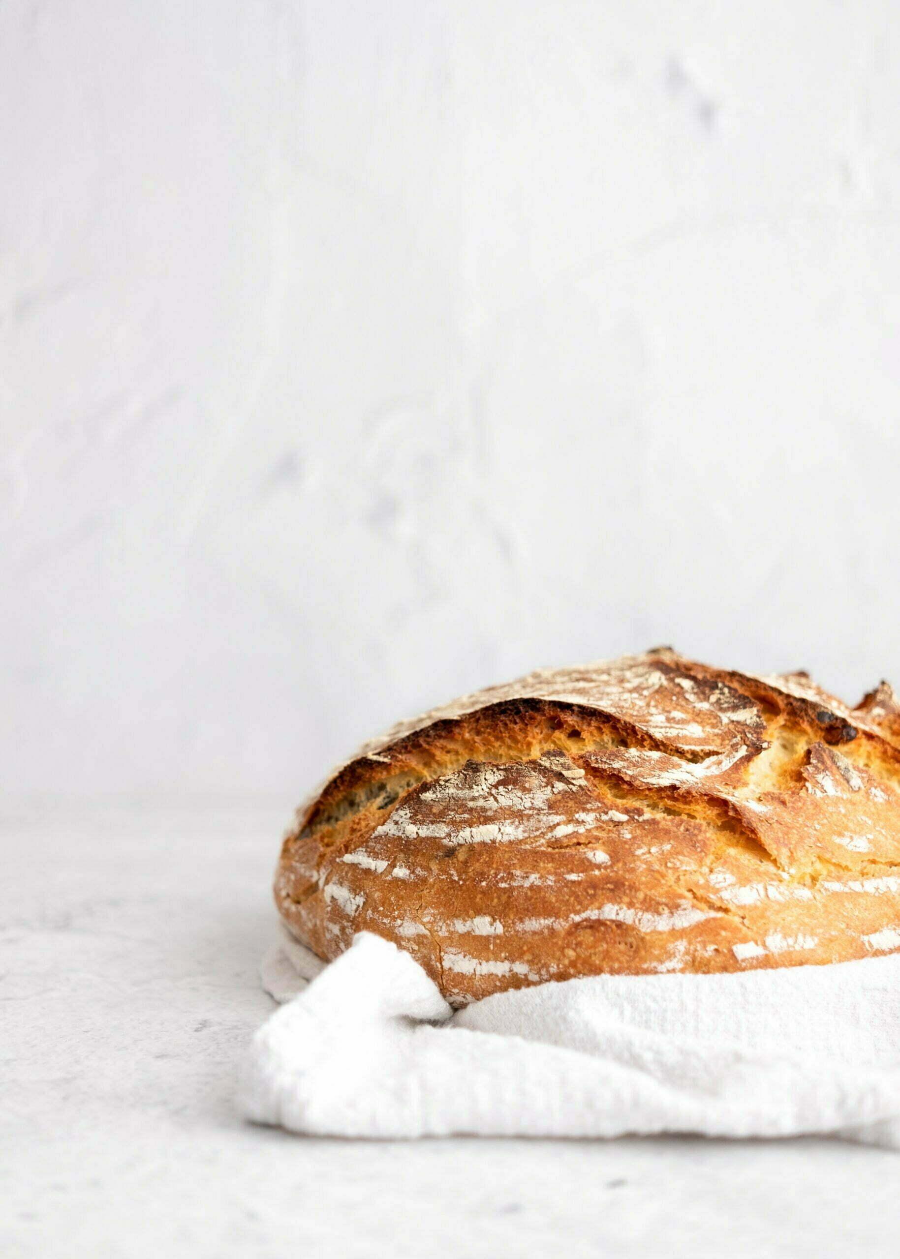 Pšenični durum kruh brez gnetenja
